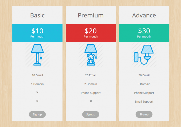 Free Pricing Table Plugins For WordPress