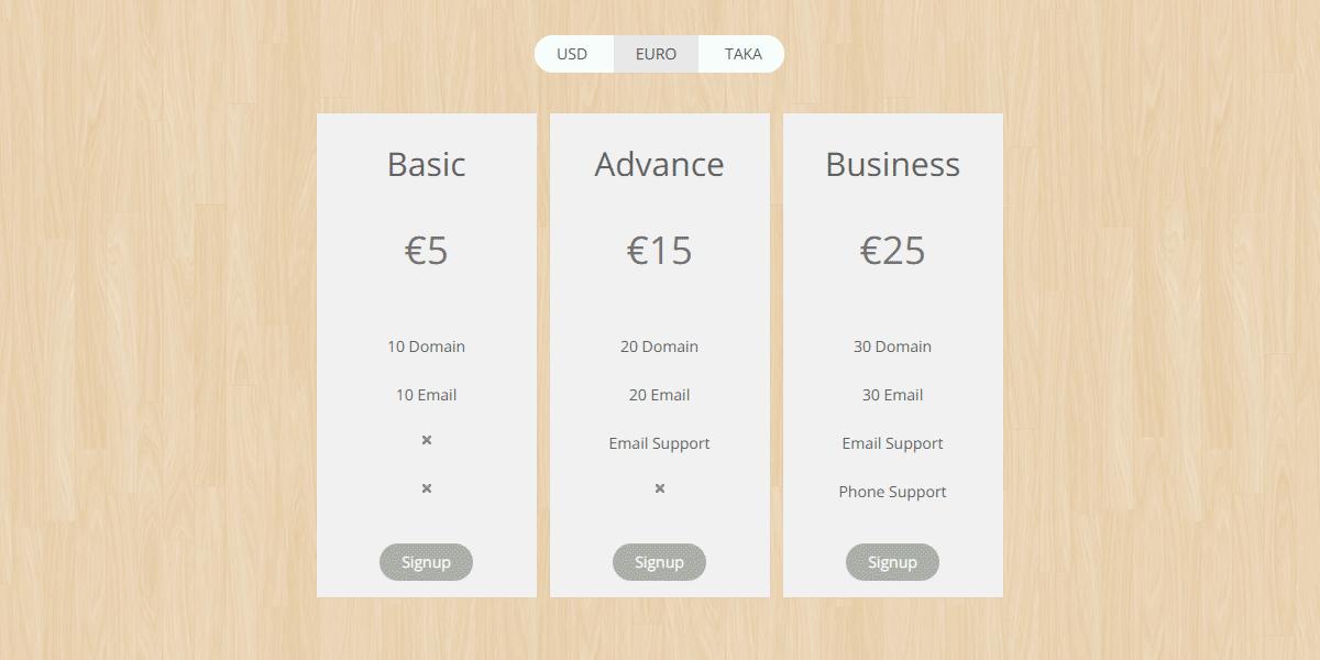pricing table plugin wordpress