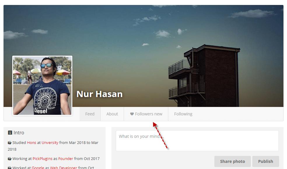 User profile Plugin