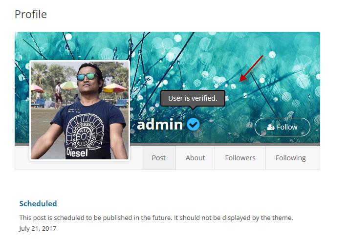 User Profile – Verified Users